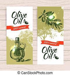Banner set of vintage olive background splash backgrounds