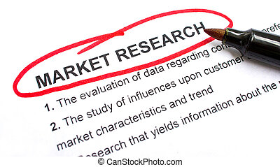 Market Research explanation with heading circled in red.