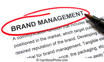 Brand Management explanation with heading circled in red