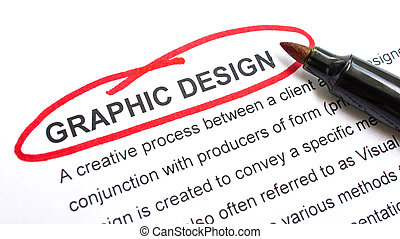 Graphic Design explanation with heading circled in red.