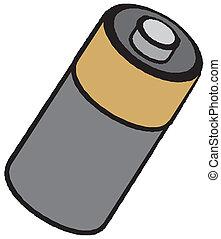 batería,  vector, icono