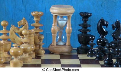 wooden chess pieces on chessboard