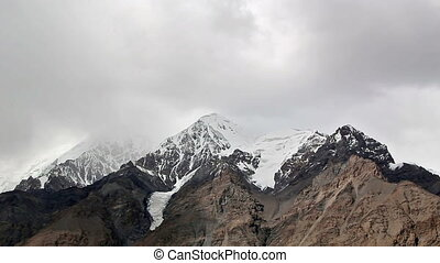Clouds in the mountains. Kirgystan, central Tien Shan, the...
