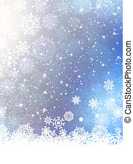 Christmas background with snowflakes EPS 10 vector file...
