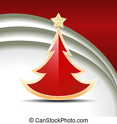 Red glossy Christmas tree