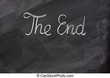The end on blackboard