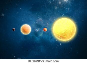 extrasolar, sistema, exterior, planetas,  solar, nosso, mundo