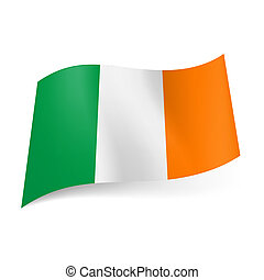 State flag of Ireland - National flag of Ireland: green,...