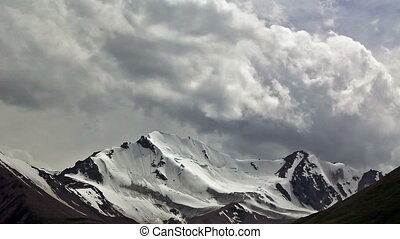 Clouds in the mountains Kirgystan, central Tien Shan, the...