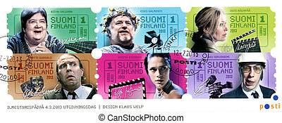 FINLAND - CIRCA 2013: A stamp printed in Finland shows the...