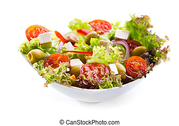 salad with vegetables and greens