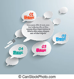 Bevel Speech Bubbles Infographic Design - Infographic with...