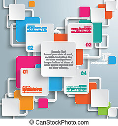 Colorful Rectangles Squares Cross Design - Infographic...