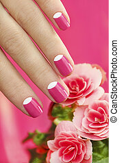 Beautiful manicures. - Beautiful manicures on short nails...