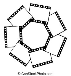 Film strip - Seven photos are gathered in one circle