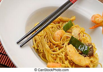 Bami goreng - Close up of Bami Goreng