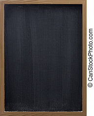 blank blackboard with vertical eraser smudges - blank...