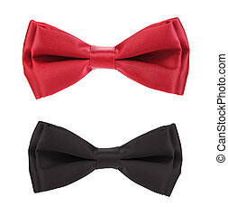 Red and black bows. Isolated on a white background.