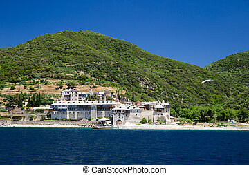 Monastery on Athos in Greece - Monastery on the mount Athos...