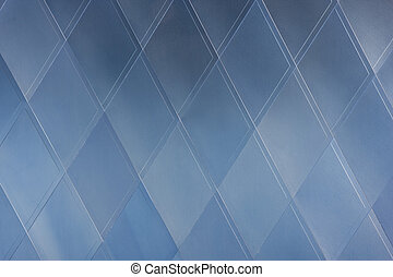 blue architecture abstract - geometrical rhomb pattern -...