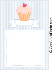Vector cupcake document template - Vector document,...