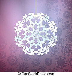 Christmas purple background with snowflake.