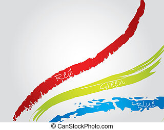 Red green blue splatter background - Red green and blue...