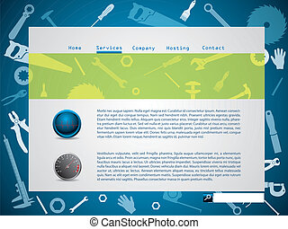 Tool design website template