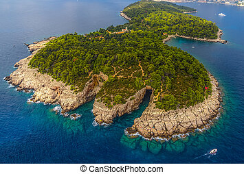 Dubrovnik - Lokrum - Lokrum Island and nature park near...
