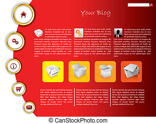 Cool business website template with gold rings