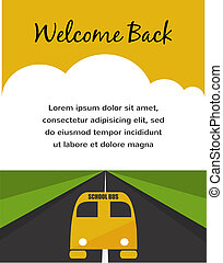 Back to school. Yellow School Bus background