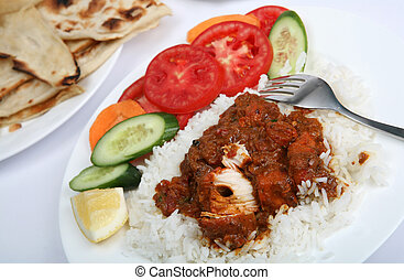 Chicken tikka masala meal - A meal of chicken tikka masala...