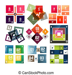 Vector square banners templates set