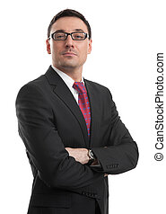 confident businessman isolated on white