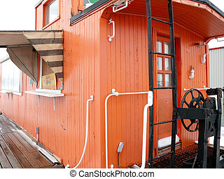 Train Caboose Conversion into restaurant - A Train Caboose...