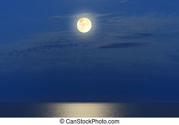 Full Moon Over The Black Sea
