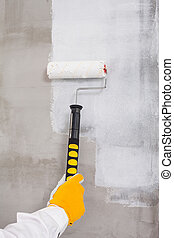 Paint roller brush