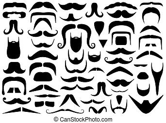 Set Of Different Mustaches - Set of different mustaches...