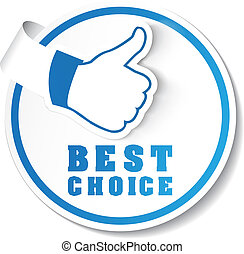 Vector best choice label - Vector illustration of a best...