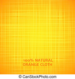 Orange cloth texture background. Vector illustration for...