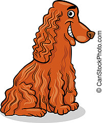 cocker spaniel dog cartoon illustration - Cartoon...