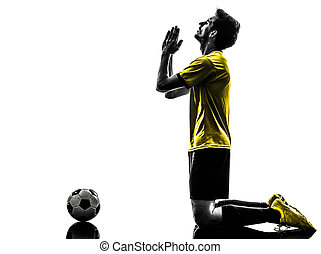 brazilian soccer football player praying man - one brazilian...