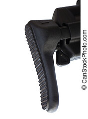 Polymer stock - End of a polymer stock on an assault rifle