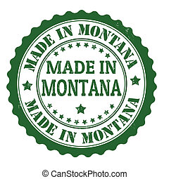 Made in Montana stamp - Made in Montana grunge rubber stamp,...