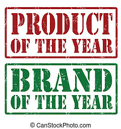 Product of the year and Brand of the year stamps