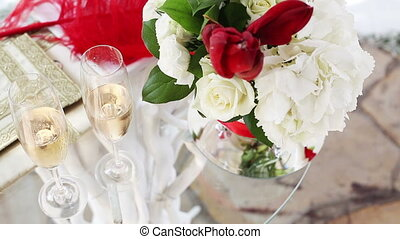 Table for the wedding ceremony - Table with the attributes...