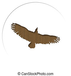 Cardboard Carved Eagle - Silhouette of an eagle carved in...