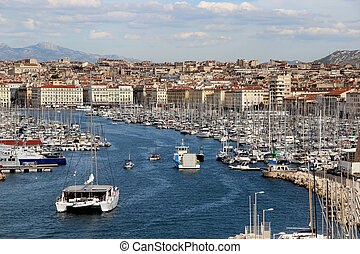 Marseille, France, Provence - Beautiful view of Marseille,...
