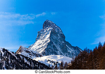 The Matterhorn in Switzerland - The Matterhorn in...