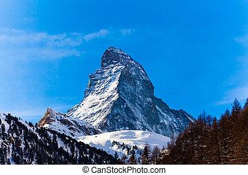 The Matterhorn in Switzerland - The Matterhorn in...